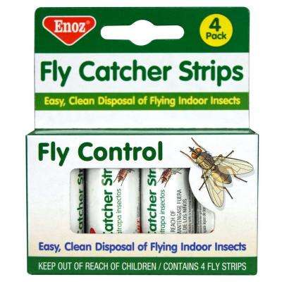 Fly Catcher Strips contains 4 fly strips (6-Pack)