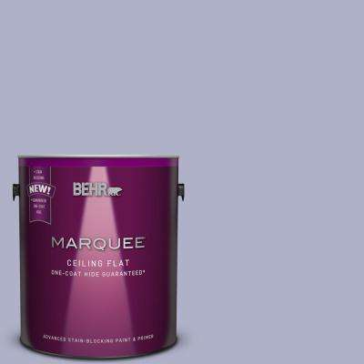 1 gal. #S560-3 Tinted to Noble Purple One-Coat Hide Flat Interior Ceiling Paint and Primer in One