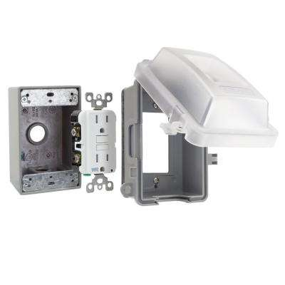 1-Gang Extra Duty Non-Metallic While-In-Use Weatherproof Horizontal/Vertical Receptacle Cover Kit, Clear