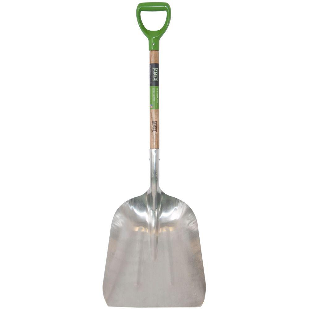 Ames 24 5 in d handle aluminum scoop 2672100 the home depot Home depot gardening tools
