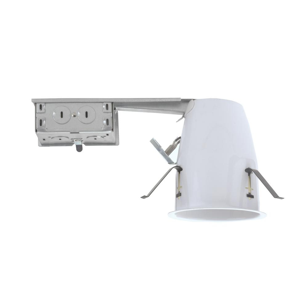 NICOR 4 in. Aluminum LED Recessed Remodel Housing, IC-Rat...