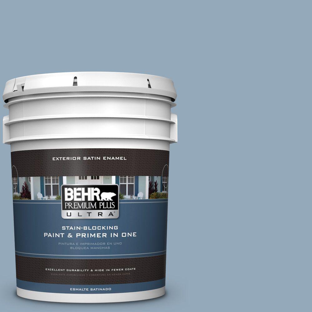 BEHR Premium Plus Ultra 5-gal. #PPU14-9 Windsurf Satin Enamel Exterior Paint