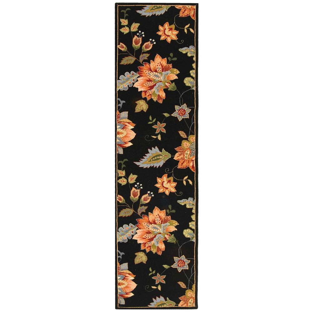 Chelsea Black 2 ft. 6 in. x 8 ft. Rug Runner