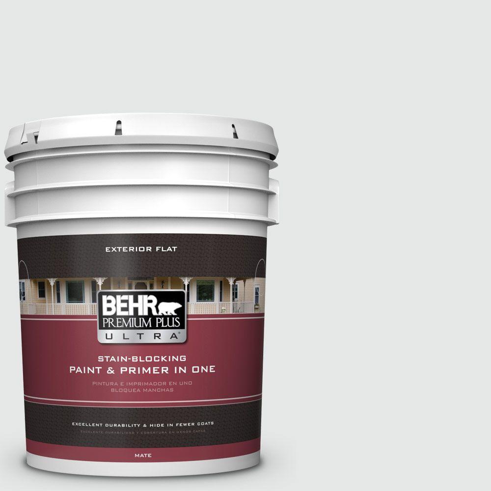 BEHR Premium Plus Ultra 5-gal. #770E-1 Quietude Flat Exterior Paint
