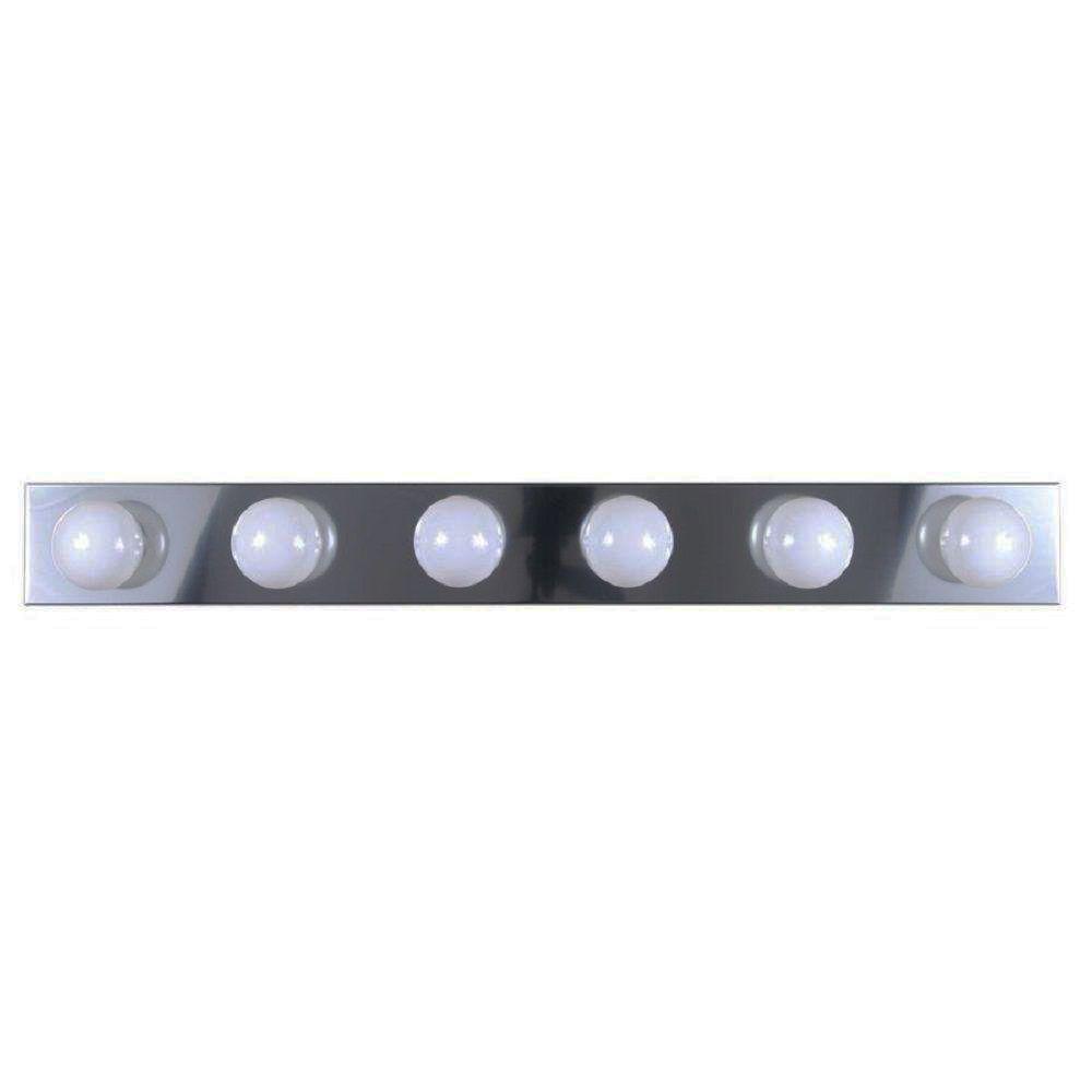 Lenor 6-Light Chrome Incandescent Wall Bath Vanity Light