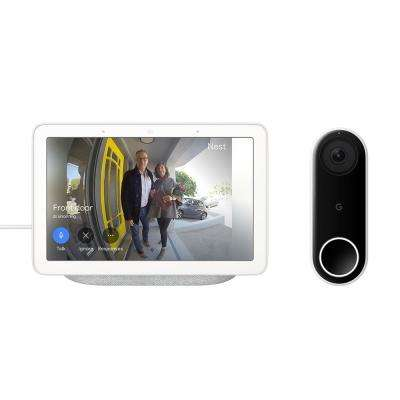 Nest Hello Doorbell with Nest Hub Chalk