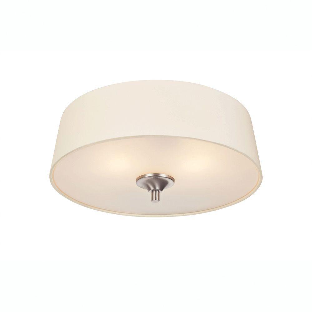 Westinghouse Parker Mews 2-Light Brushed Nickel Ceiling Fixture