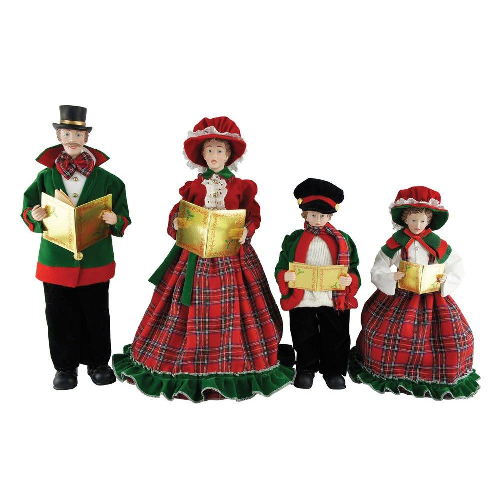 Set Of 4 15 To 18 Victorian Carolers By Santa S Workshop: Santa's Workshop 15 In. To 18 In. Christmas Day Carolers