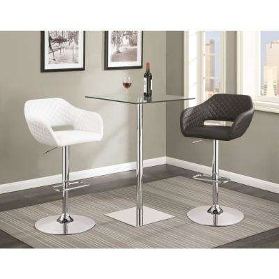 Rec Room Chrome Glass Square Bar Table