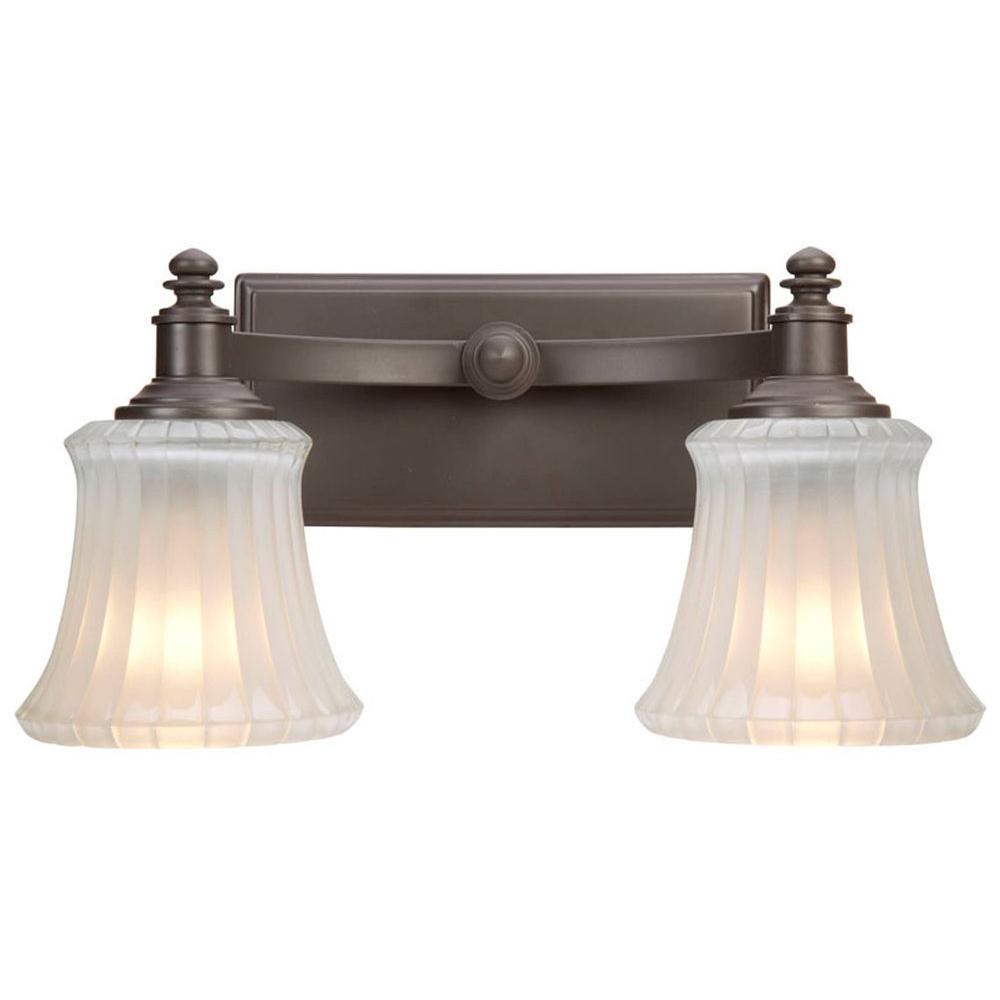 Kenning 2-Light Dutch Bronze Bath Sconce