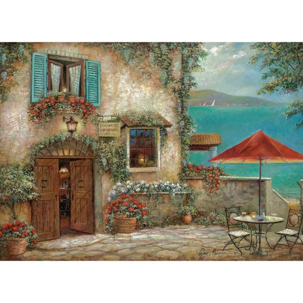 MHF Home Tuscan Summer Brown 18 in. W x 13 in. L Polypropylene Placemat Set (4-Pack)