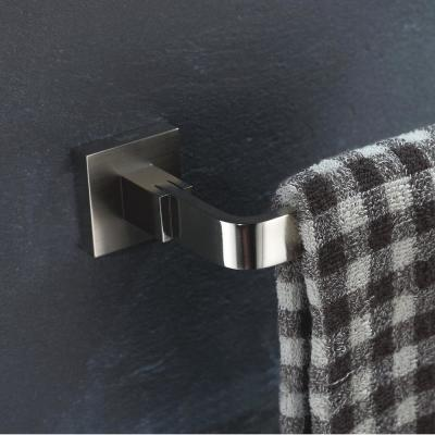Aura Single Post Bathroom Toilet Paper Holder without Cover in Brushed Nickel