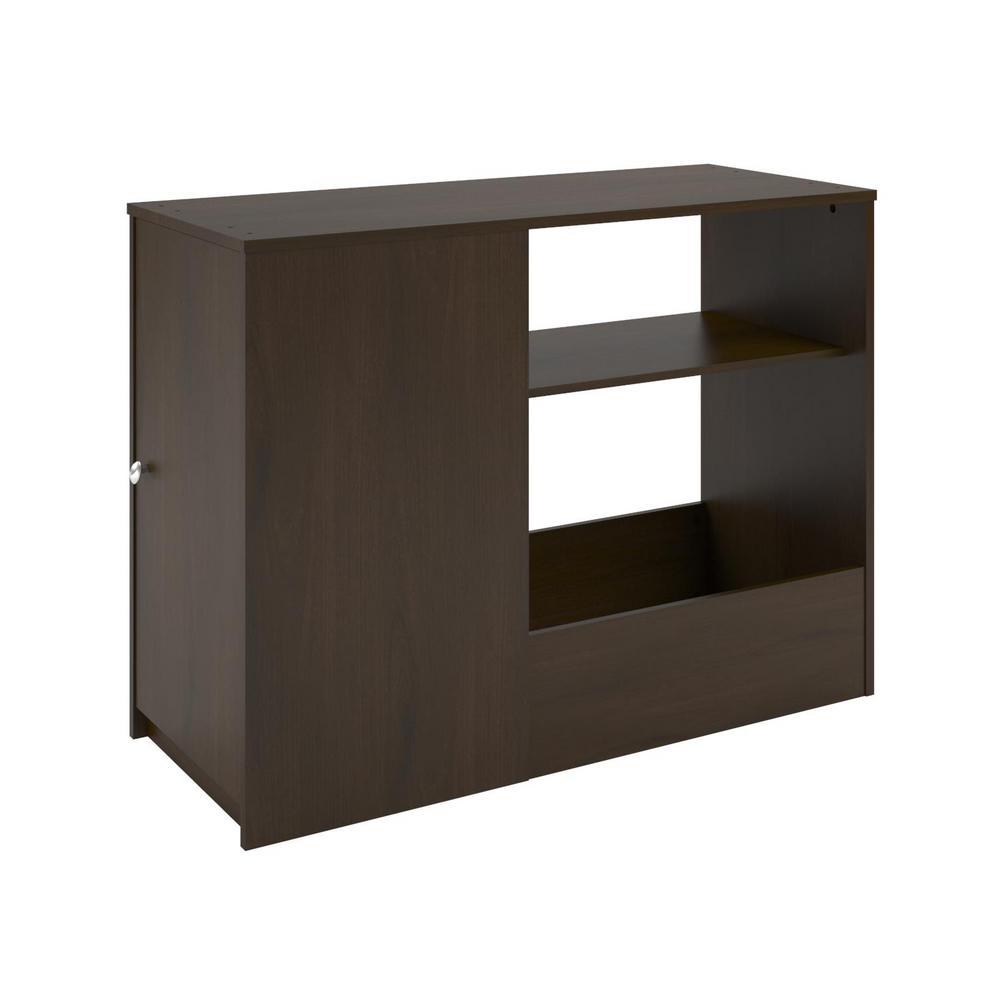 Resort Cherry Toy Box Bookcase Reddish Brown Wood Sandhill