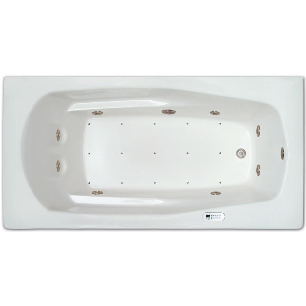 MAAX Cocoon 66 in. Acrylic End Drain Rectangular Drop-in Whirlpool ...