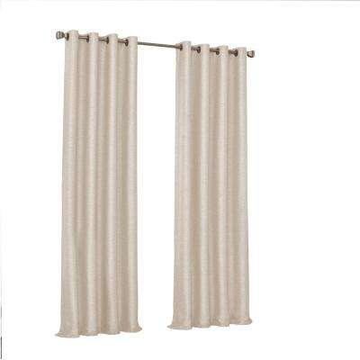 Presto Blackout Window Curtain Panel in Ivory - 52 in. W. x 63 in. L