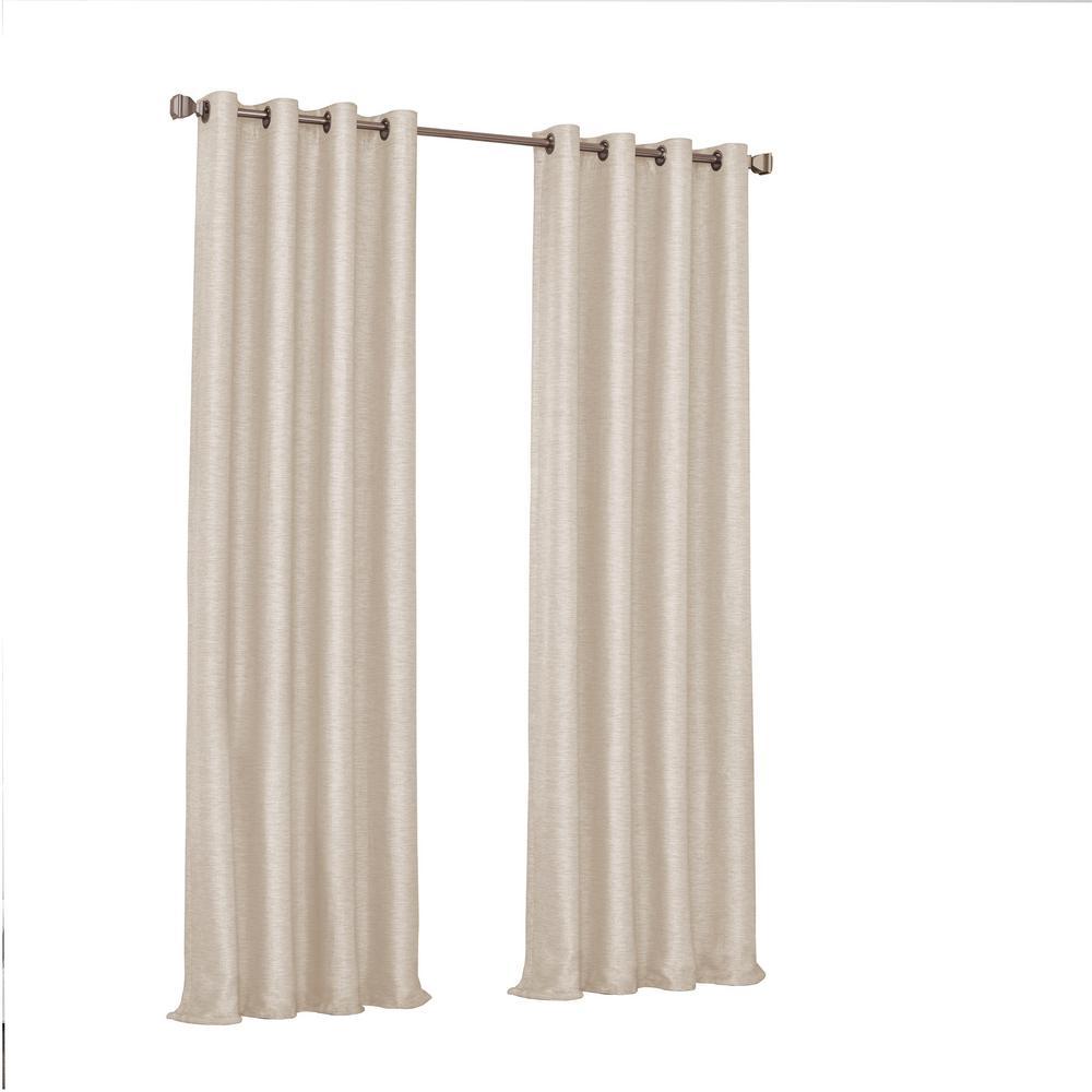 Eclipse Presto Blackout Window Curtain Panel in Ivory - 52 in. W. x 108 in. L