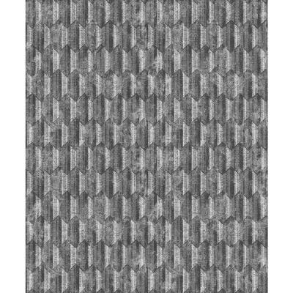Kendall Silver Geometric Wallpaper