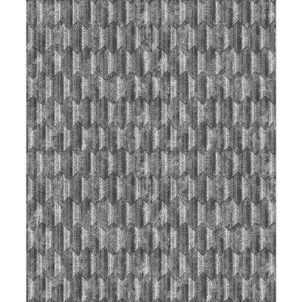 Kendall Silver Geometric Wallpaper Sample