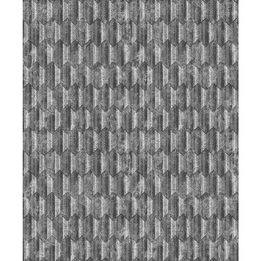 Decorline Kendall Silver Geometric Wallpaper Sample