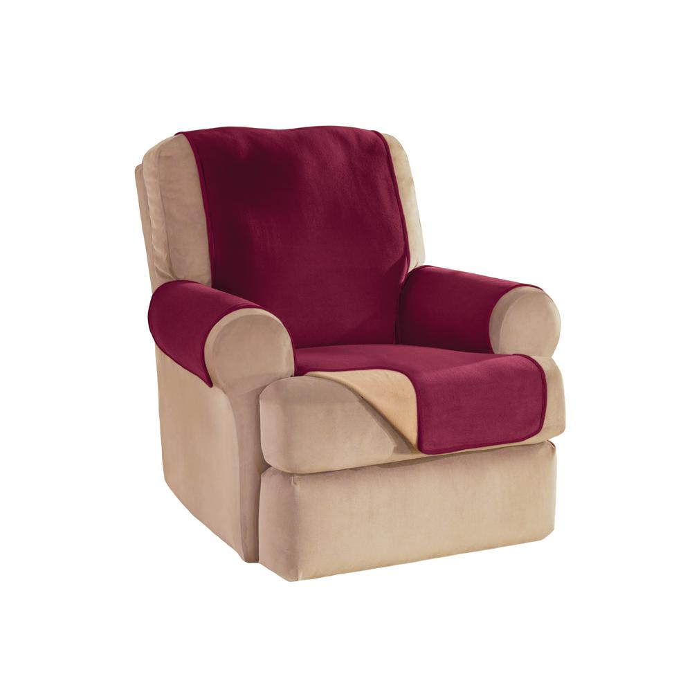 Innovative textiles solutions burgundy reversible for Reversible waterproof furniture covers