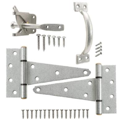 Galvanized Gate Tee Hinge, Latch and Pull Set