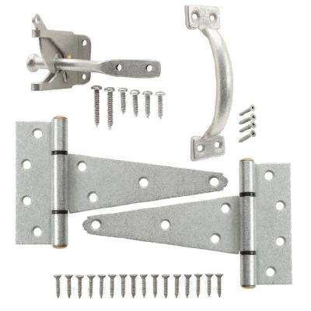 Galvanized Gate Tee Hinge, Latch and Pull Set