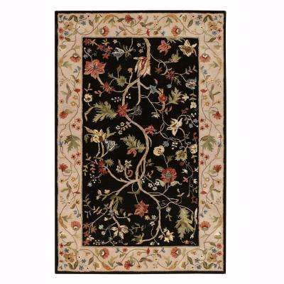 Antoinette Wembley Black/Beige 8 ft. x 11 ft. Area Rug