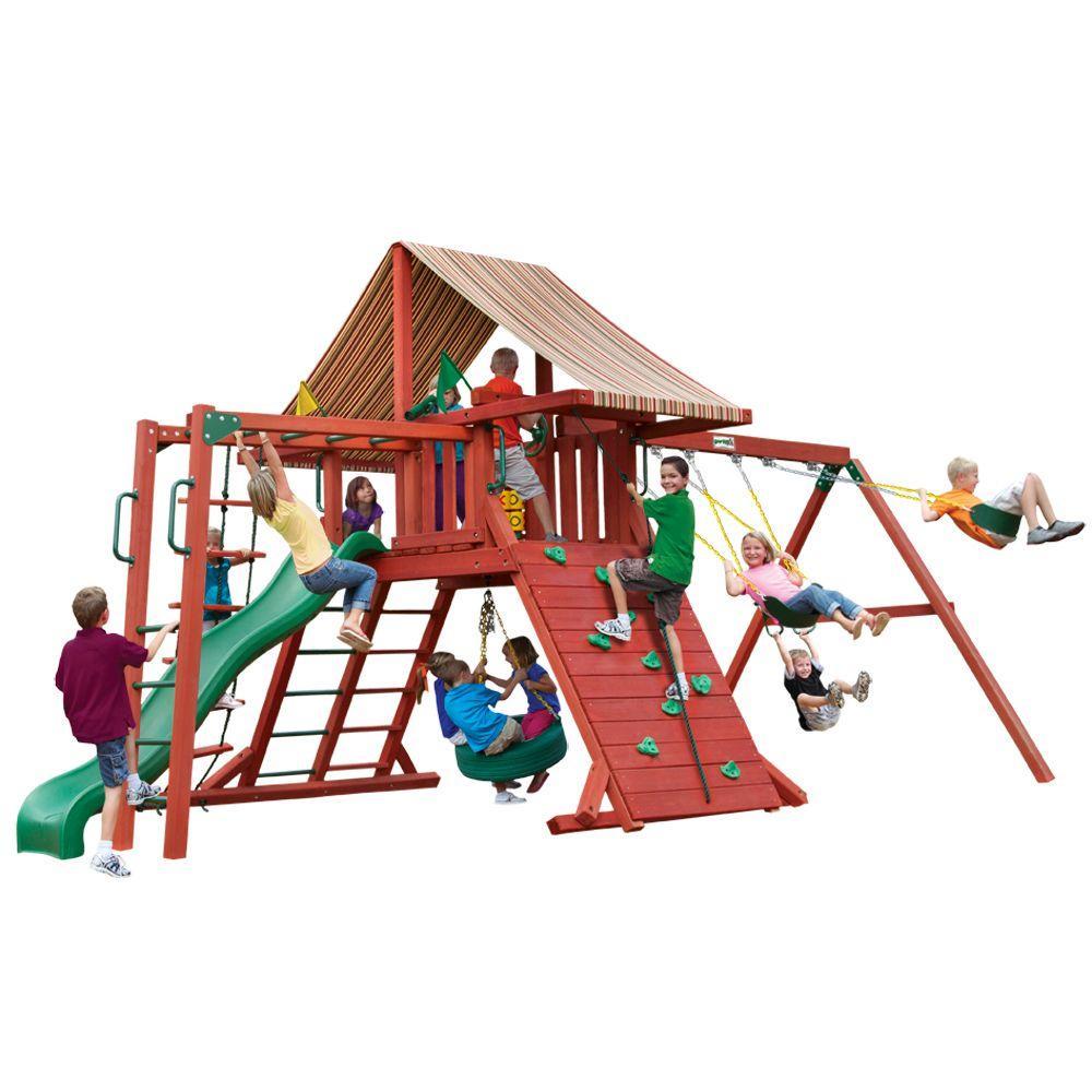 gorilla playsets sun climber ii cedar playset 01 0027 the home depot