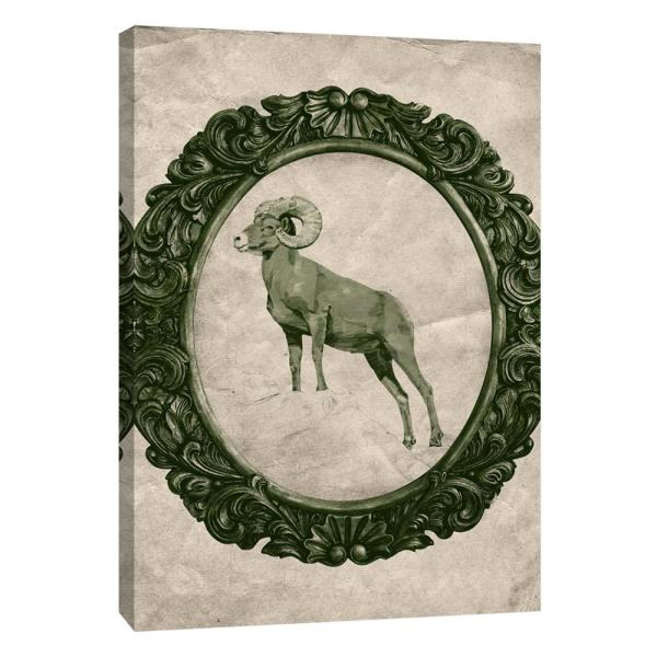 PTM Images 12 in. x 10 in. ''Framed Bighorn Sheep in