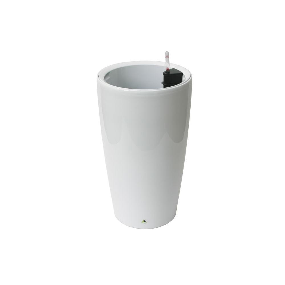 Modena 22 in. White Round Self-Watering Plastic Planter