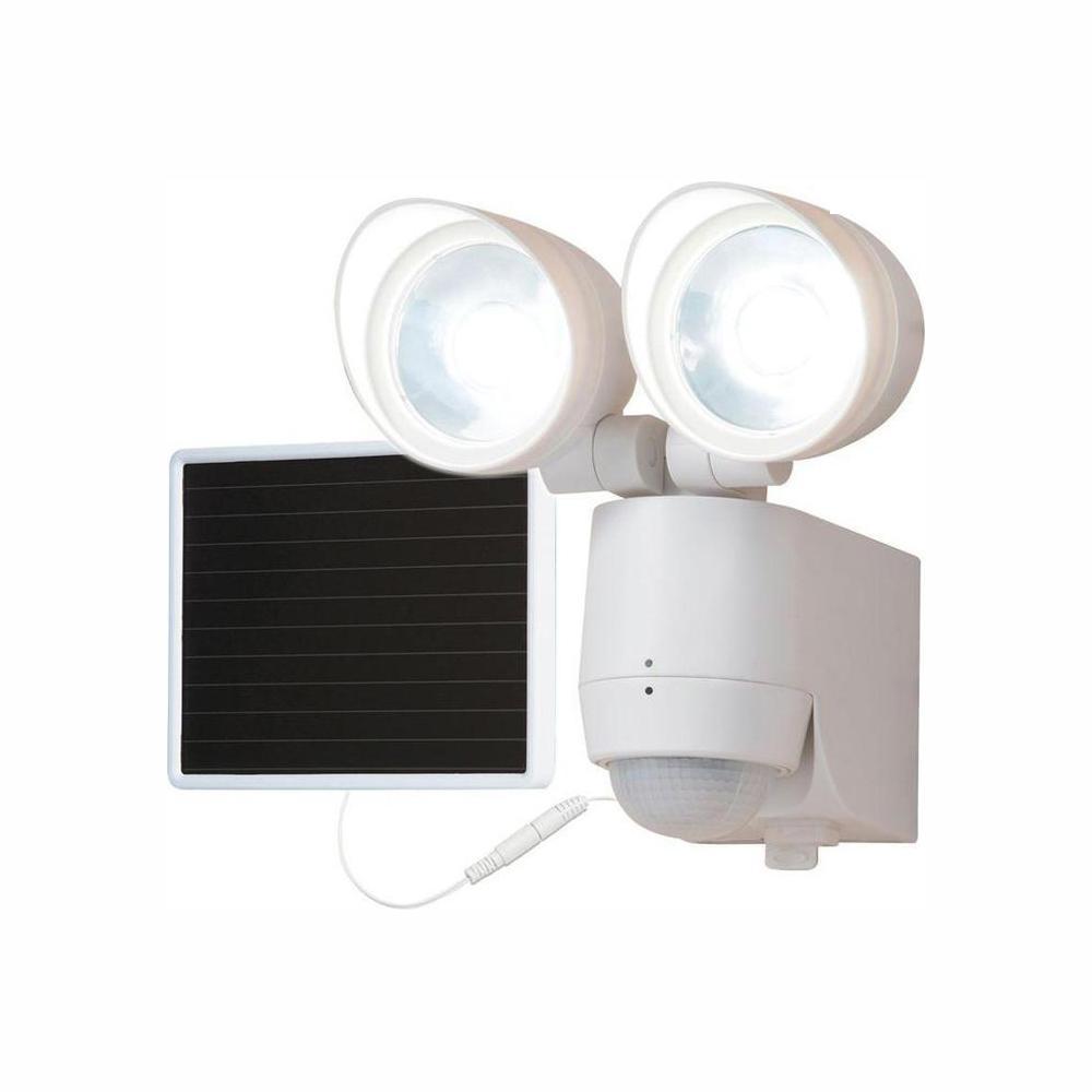 2 PACK 80 SMD LEDs Solar Powered Black Motion Sensor Security Light Flood 60 100