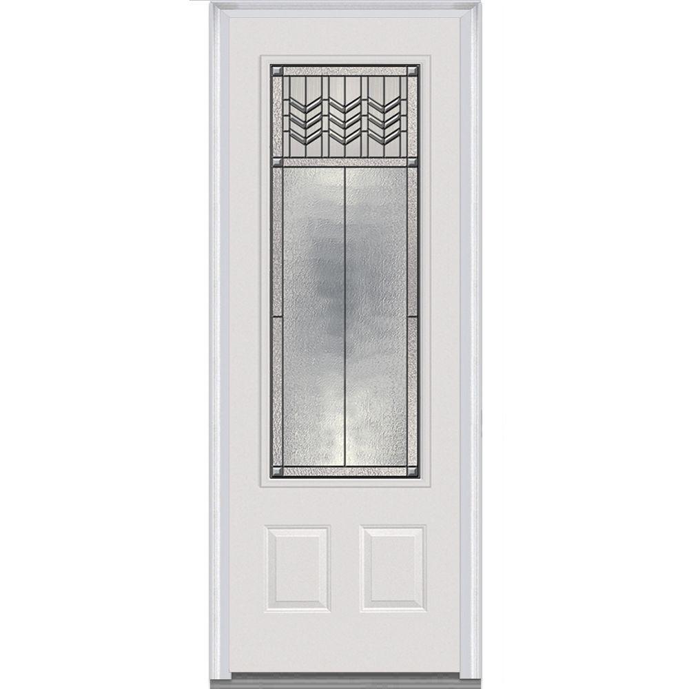 MMI Door 36 in. x 96 in. Prairie Bevel Left-Hand 3/  sc 1 st  Home Depot & MMI Door 36 in. x 96 in. Prairie Bevel Left-Hand 3/4-Lite Decorative ...