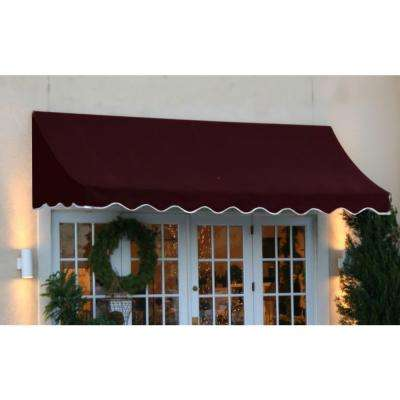 10 ft. Nantucket Window/Entry Awning (31 in. H x 24 in. D) in Burgundy