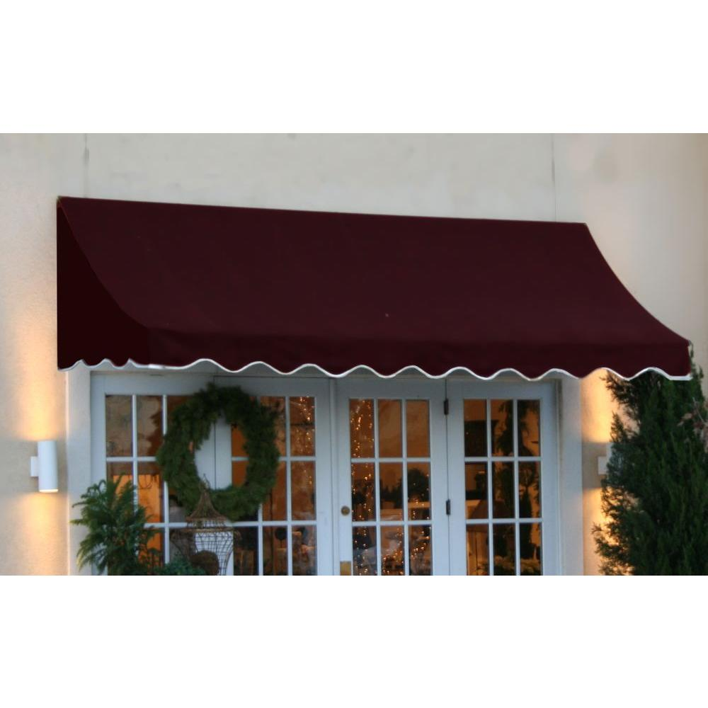 AWNTECH 25 ft. Nantucket Window/Entry Awning (56 in. H x 48 in. D) in Burgundy