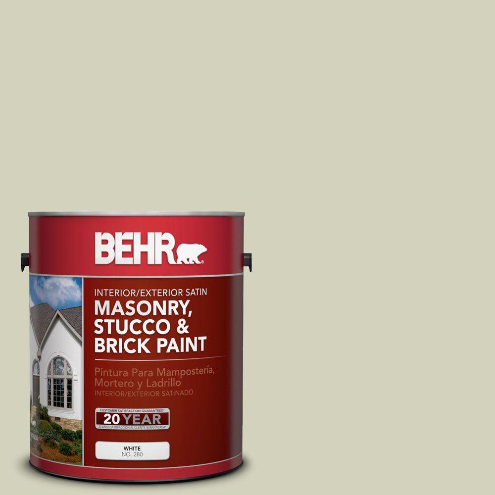 1-gal. #MS-56 Amazon Mist Satin Interior/Exterior Masonry, Stucco and Brick Paint