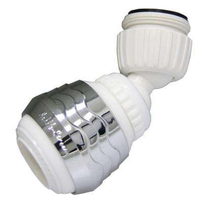 1.8 GPM Dual-Thread Double Swivel Spray Aerator in White