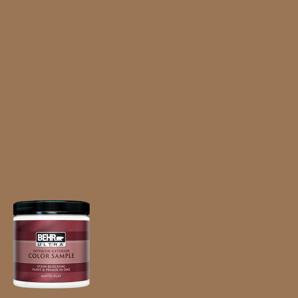 BEHR ULTRA 8 oz  #UL130-5 Coco Rum Matte Interior/Exterior Paint and Primer  in One Sample