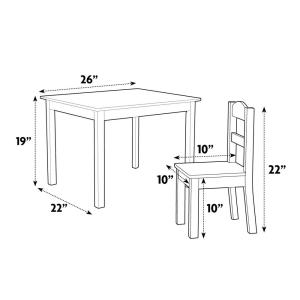 Awesome Primary 5 Piece Kids Natural Table And Chair Set Onthecornerstone Fun Painted Chair Ideas Images Onthecornerstoneorg
