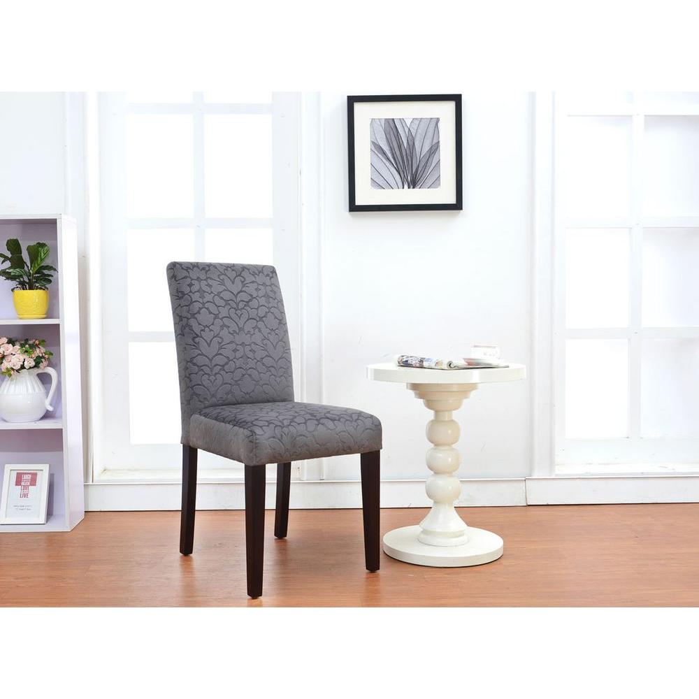 Linon Home Decor Upton Charcoal Microfiber Parsons Side Chair (Set Of 2)