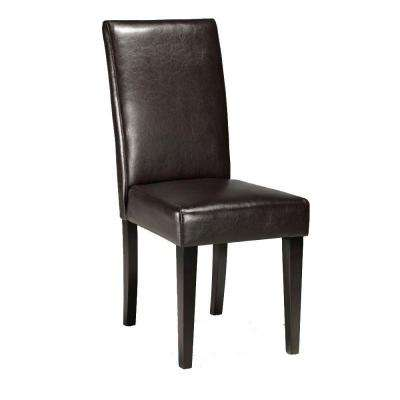 Parsons Brown Recycled Leather Side Chair