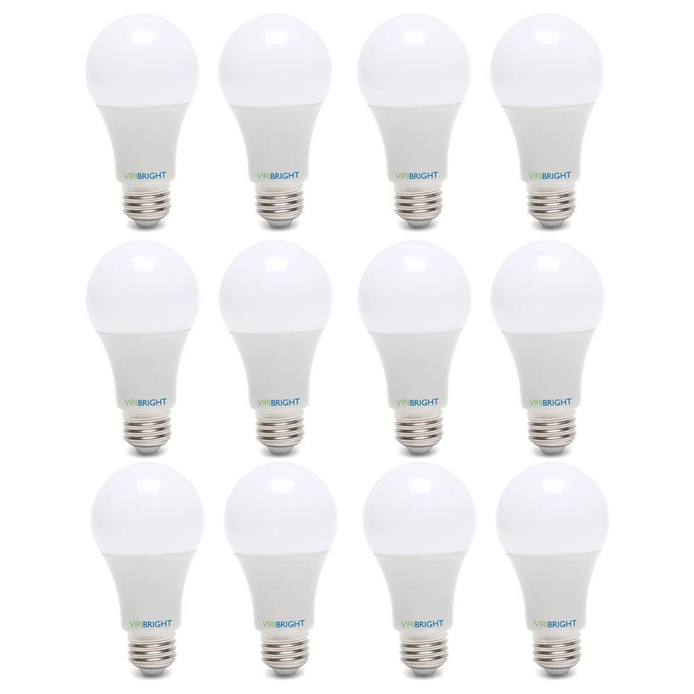 60-Watt Equivalent Soft White (2700K) A19 E26 Base LED Light Bulbs (12-Pack)