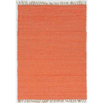 Veriagated Loop Coral 4 ft. x 6 ft. Rectangle Area Rug
