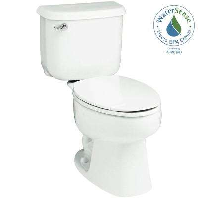 Windham 14 in. Rough-In 2-piece 1.28 GPF Single Flush Elongated Toilet in White