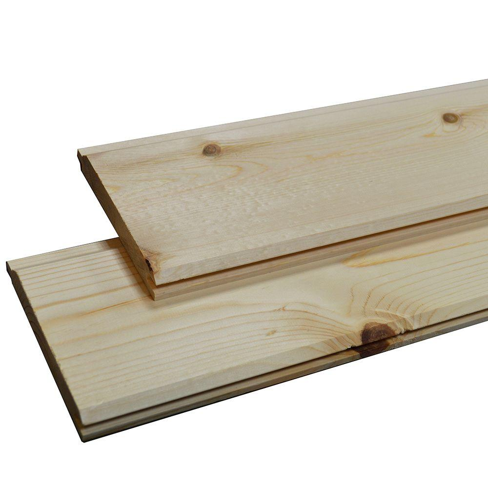1 In X 6 In X 8 Ft Wp4 End Matched Pine Prefinished Board N The Home Depot