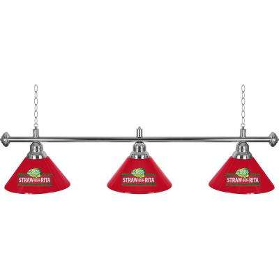 Bud Light Straw-Ber-Rita 3-Light Red Billiard Lamp