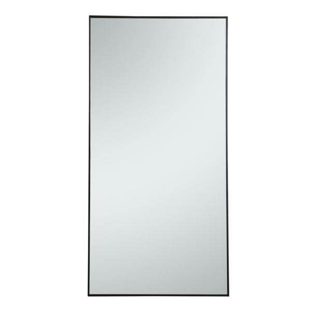 Oversized Rectangle Black Modern Mirror (72 in. H x 36 in. W)