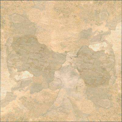 Beige Slate 12 in. Width x 12 in. Length x 0.080 in. Thick Peel and Stick Vinyl Tile (30 sq. ft. / carton)