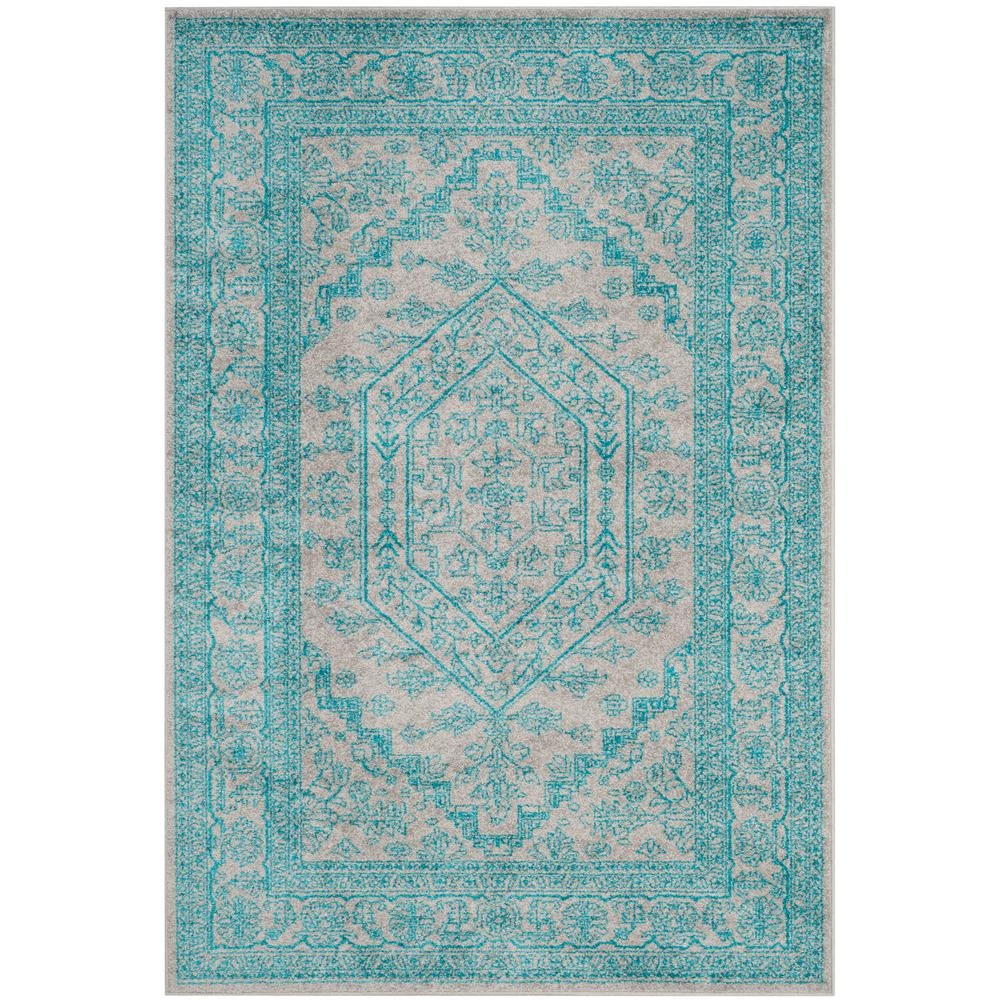 Safavieh Adirondack Light Gray/Teal 5 Ft. X 8 Ft. Area Rug