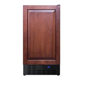 Summit appliance 18 in 3 cu ft mini refrigerator with for Custom stainless steel cabinet doors