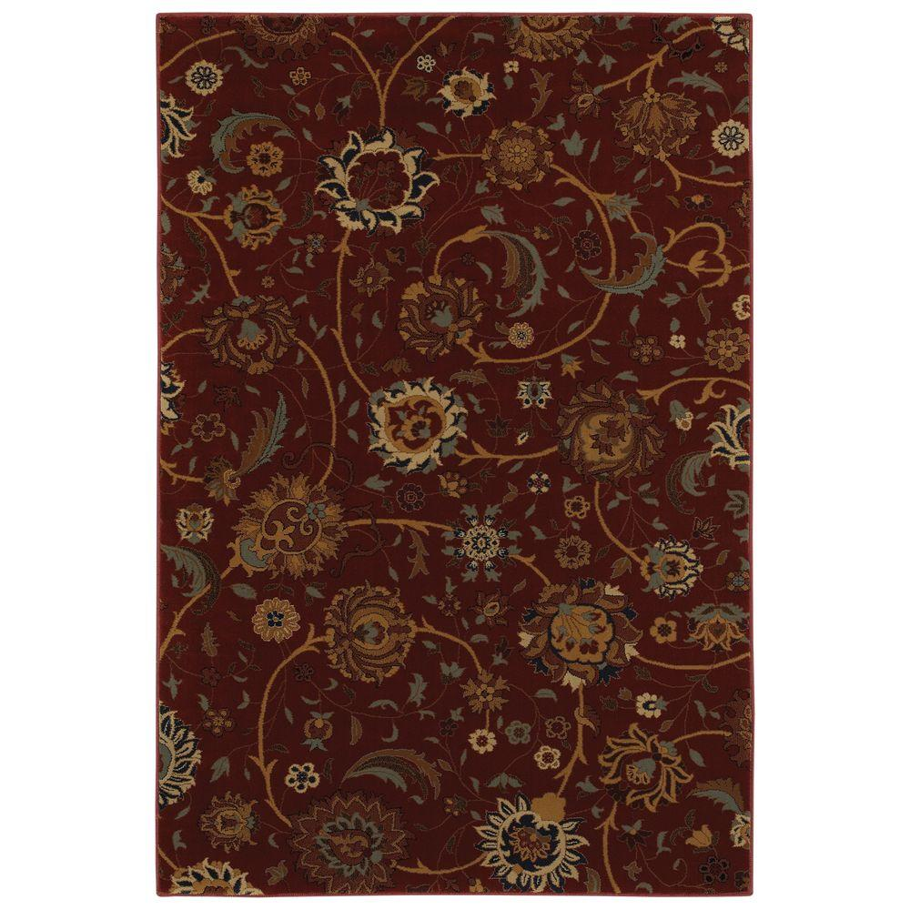 Mohawk Home Cordella Crimson 5 ft. 3 in. x 7 ft. 6 in. Area Rug